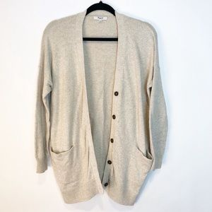 Madewell Cream Long Cardigan Sweater Duster